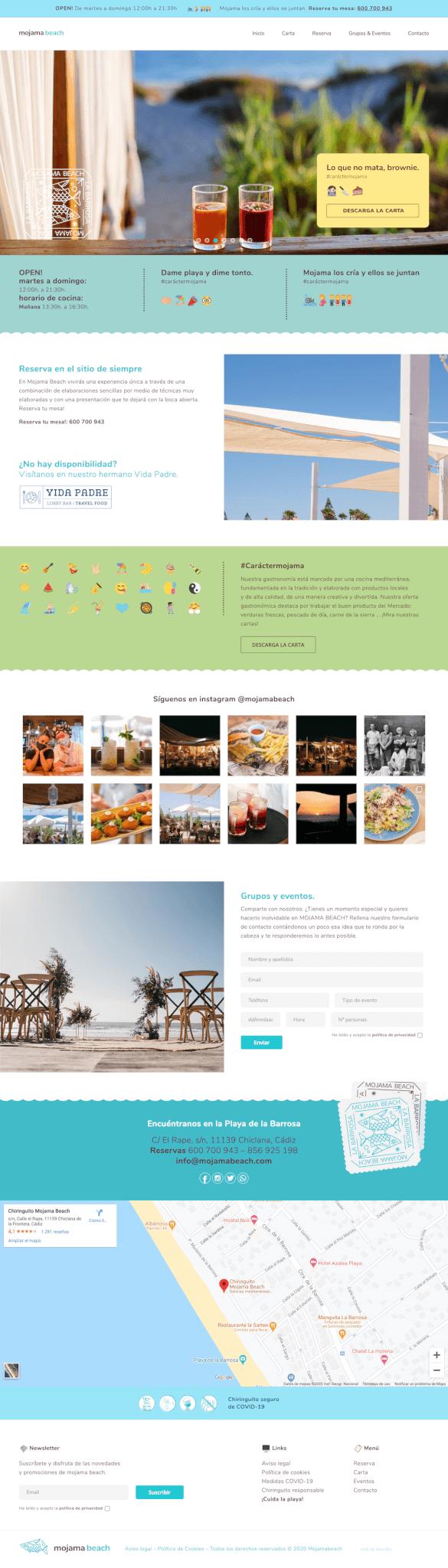 Desarrollo web para Mojama Beach