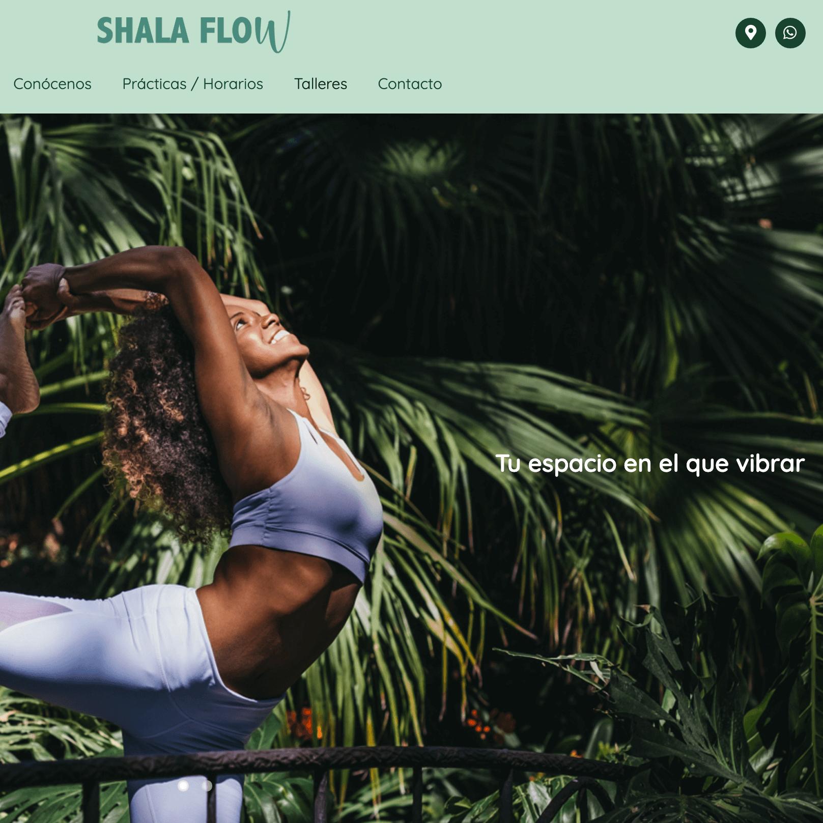 Desarrollo web para ShalaFlow